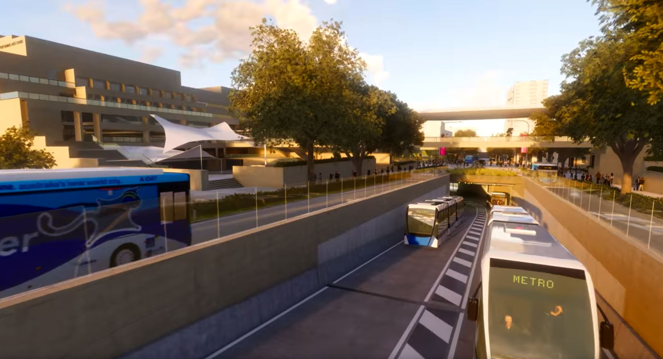 Brisbane City Council released the fly-through vision of the station.