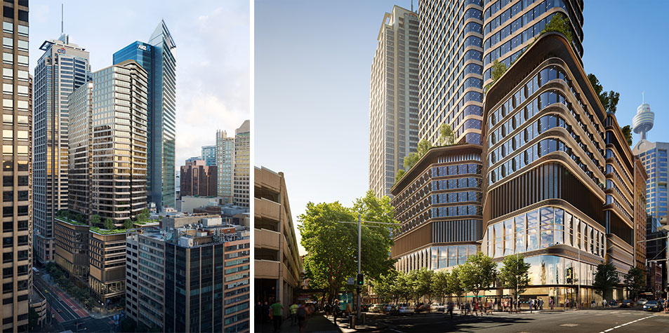 Pitt Street North Tower. Canadian fund Oxford Properties will be the lead developer and equity investor for the office and build-to-rent residential buildings above the new Pitt Street Metro Station.