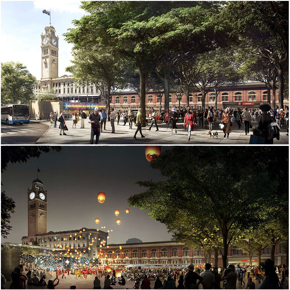 ▲ Council's plans for 'Central Square' next to Central Station.