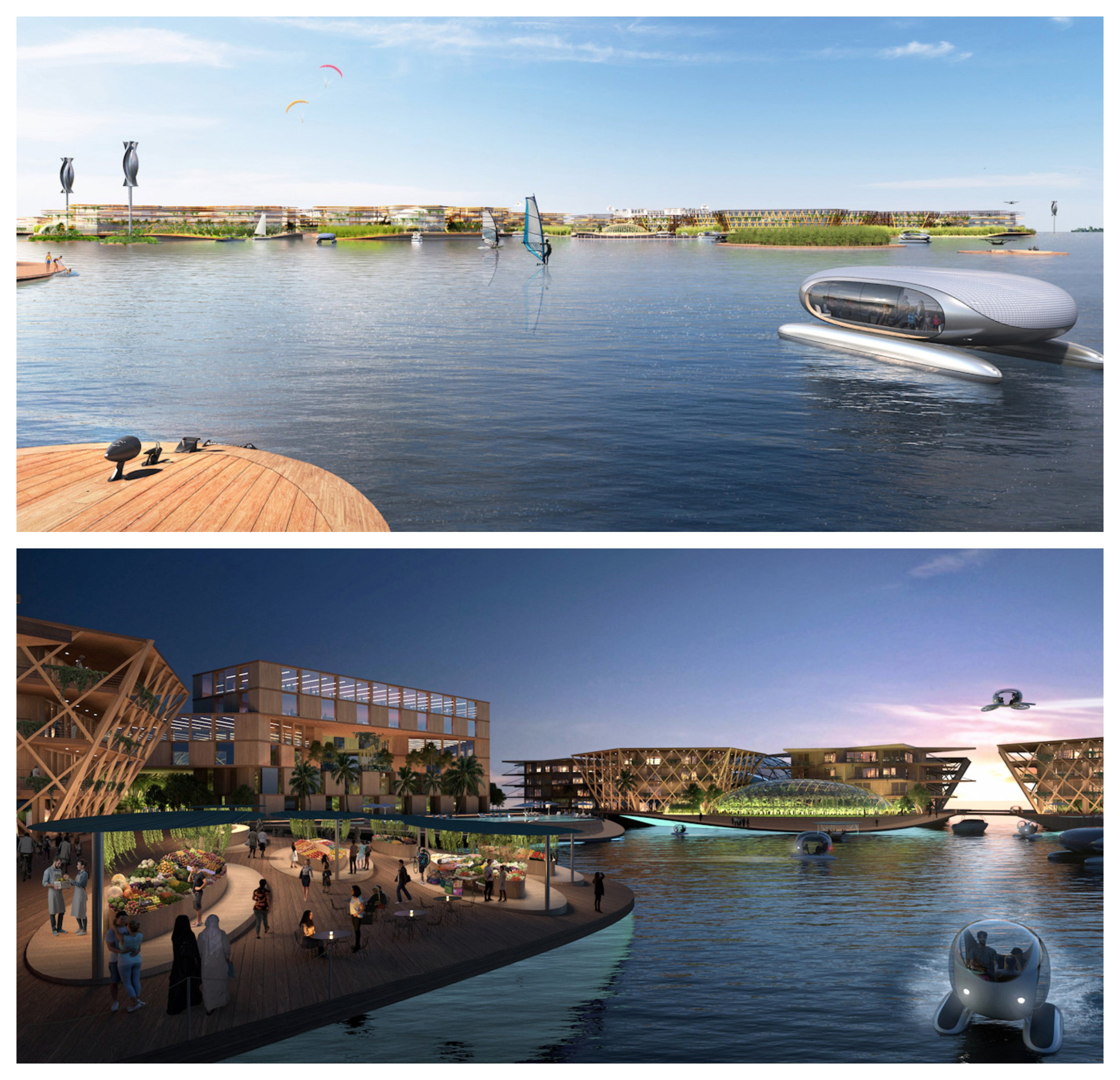The villages would sit within proximity to major coastal cities.