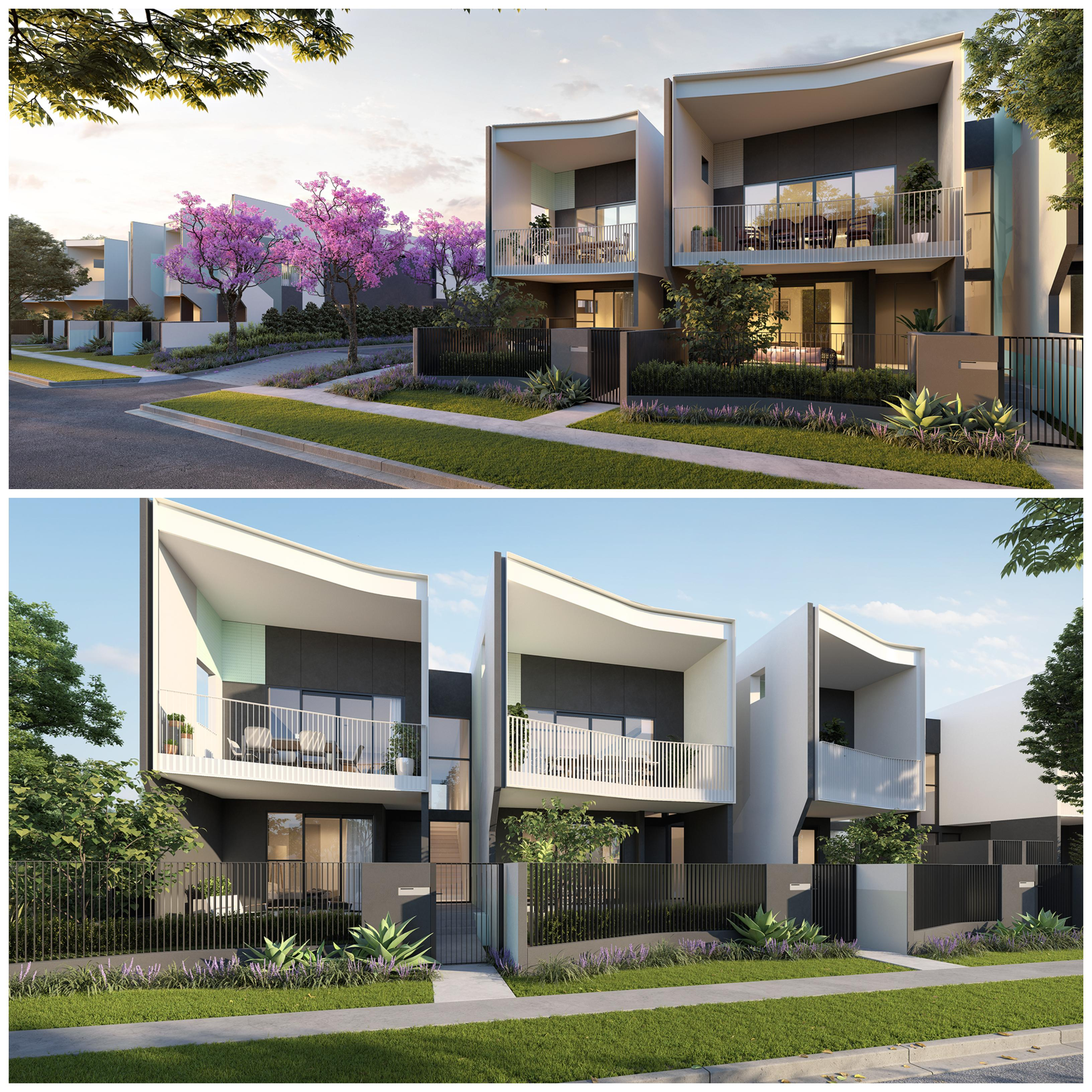 The development will feature three and four bedroom terrace homes and one-to-three bedroom apartments.