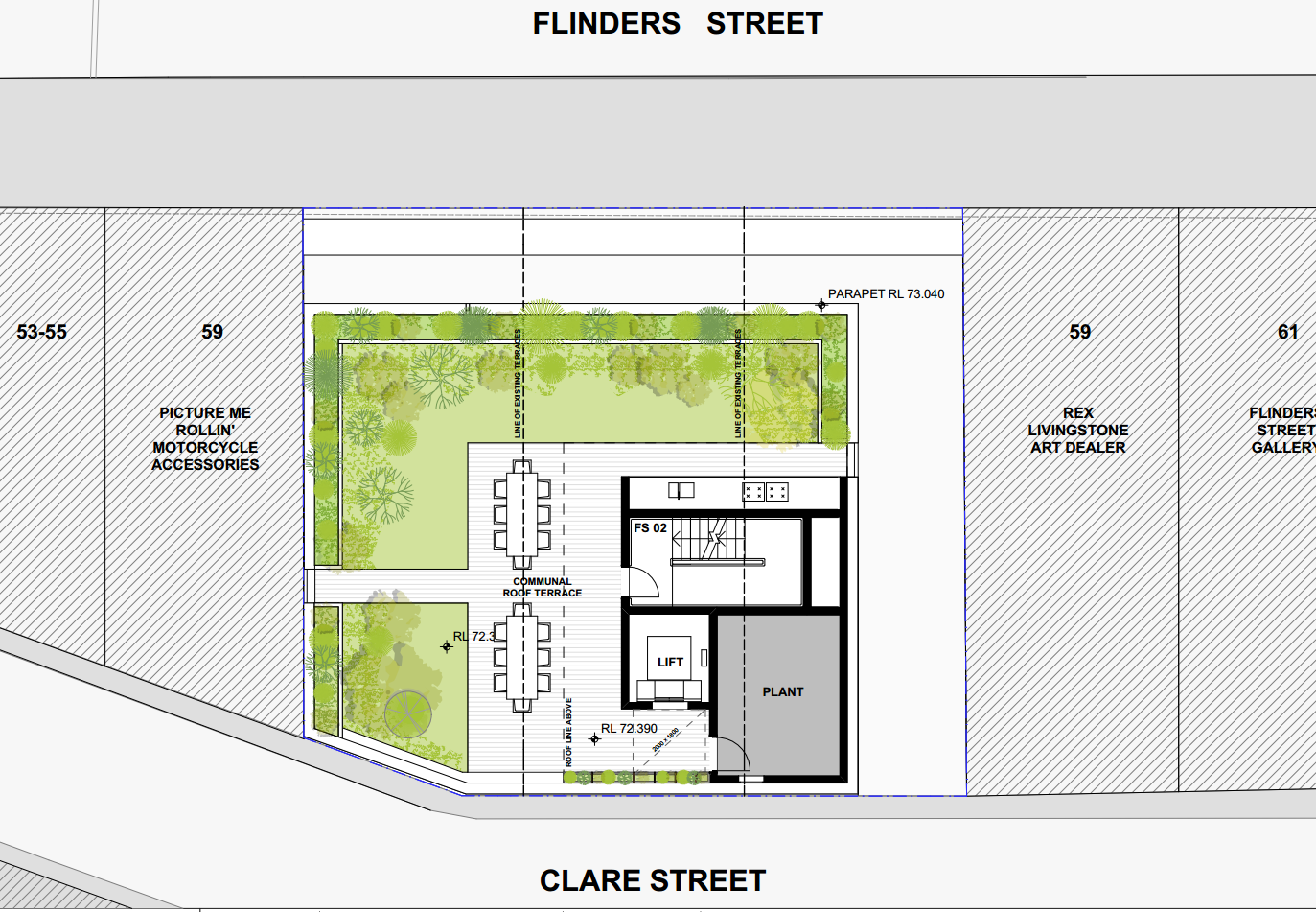 Roof terrace floor plan. Source: City of Sydney