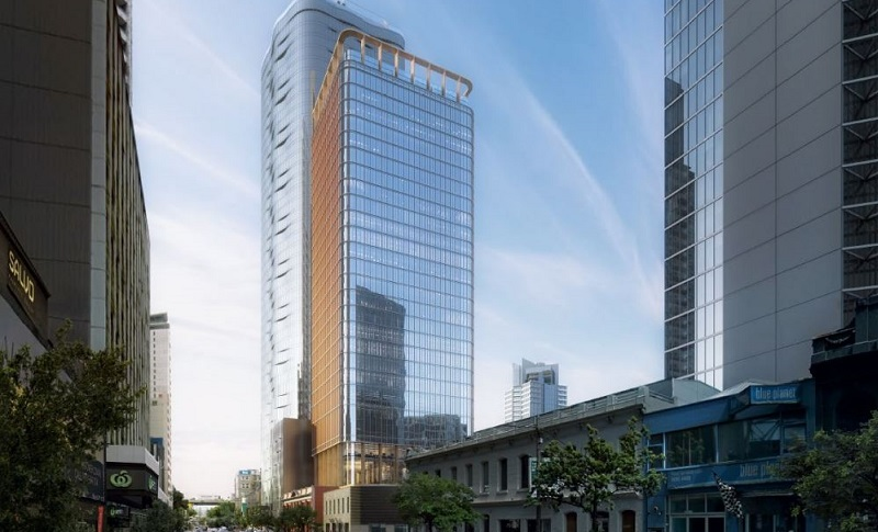 ▲ The 28-storey tower planned for City Road, Southbank is designed by Elenberg Fraser.