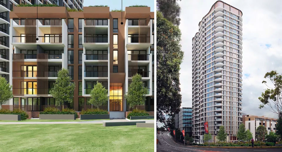 Meriton's Macquarie Park stage one proposal is for a 27-storey tower, the second stage will add three more towers, with the highest reachings 60-storeys.