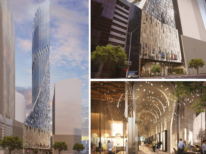 A proposed tower on Power Street in Southbank has a glittery design and angled facade.