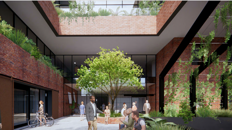 ▲ Plans for 173 Barkly Avenue at Burnley are for a $50 million eight-storey office tower with a nod to its industrial past.