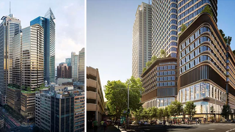 ▲ Oxford Properties Group haslodged the second DA, as part of the Sydney Metro Pitt Street over-station development, with plans for a 39-storey office building.