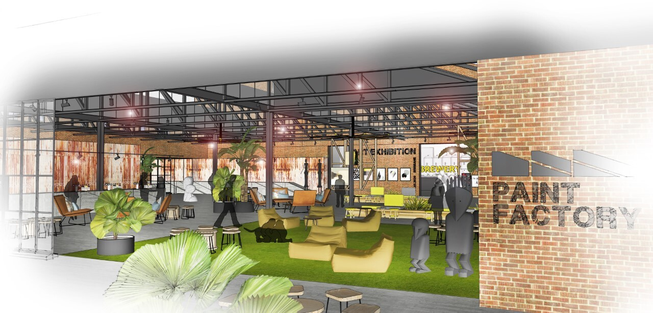 The former Taubmans paint factory will become a permanent address for artists and will also include art galleries, an event space, artisans, micro brewer, coffee roaster, pop-up fresh produce and an artisan market.