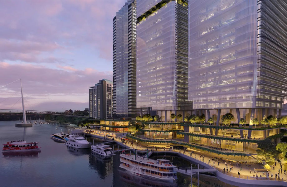 ▲If approved, Dexus plans to build two towers on Eagle St Pier.