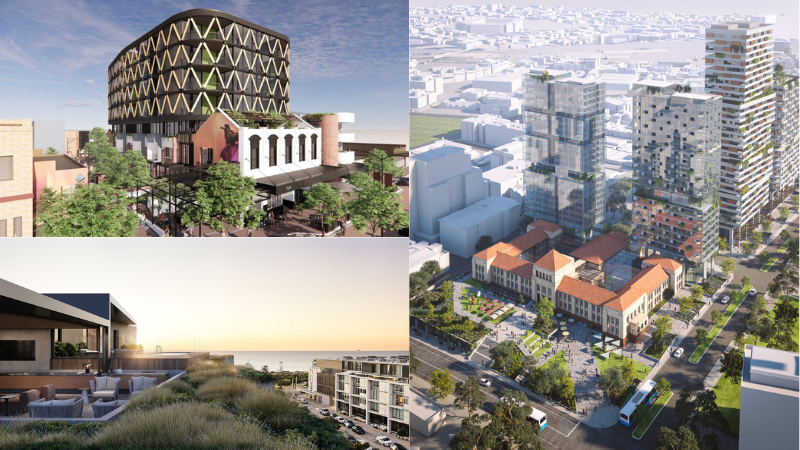 ▲ Australian Development Capital projects include Lyric Residences, a bold redevelopment of the former Perth Girls School, and Freeman Residences at Leighton Beach. Images: ADC