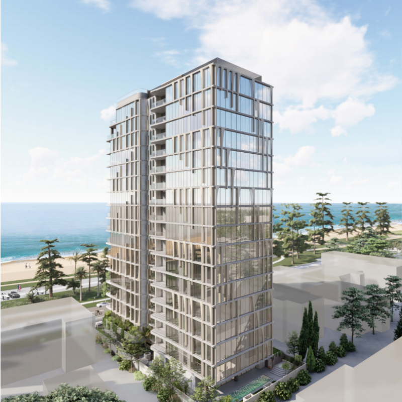 ▲ The 18-storey tower would take style cues from its coastal backdrop.