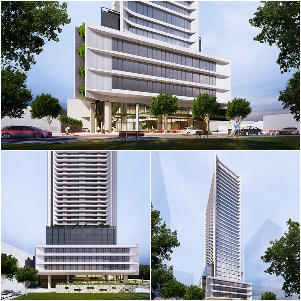 ▲ The building will be recognised as the tallest building in the south-west Sydney region. Image: Rothelowman Architects