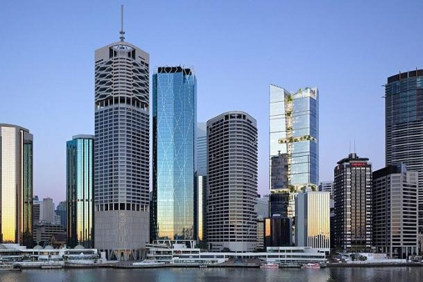 Charter Hall's Prime Office Fund and Investa's Commercial Property Fund are bankrolling the $650 million, 40-storey project.