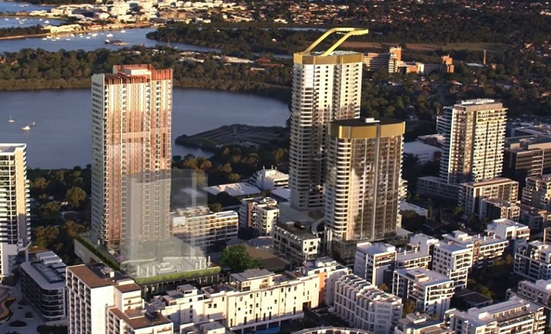 ▲ Private Australian property group Billbergia have approved plans for three towers in Rhodes which are included in the NSW government's new place strategy.