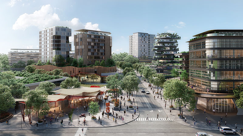 ▲ The development of the 40-hectare site is expected to generate approximately 20,000 direct jobs. Image: Sekisui House
