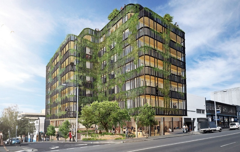 ▲ The Commons Hobart was completed in 2020, the seven-storey building has 30 apartments and has a similar vertical community design as Small Giant's Brunswick, Melbourne project.