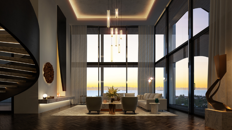 ▲ An artist's impression of one of the penthouses on offer at The Grove in the western suburbs of Perth. Image: Blackburne