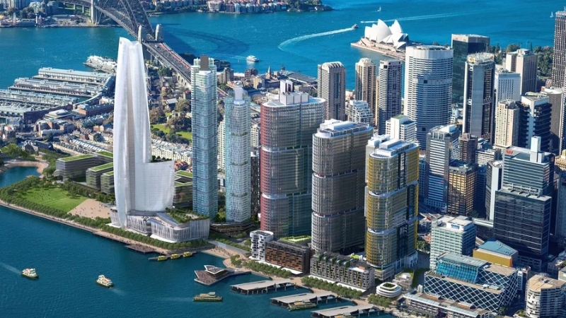 ▲ Barangaroo South, in Sydney, has 20 percent less embodied carbon compared to standard construction
