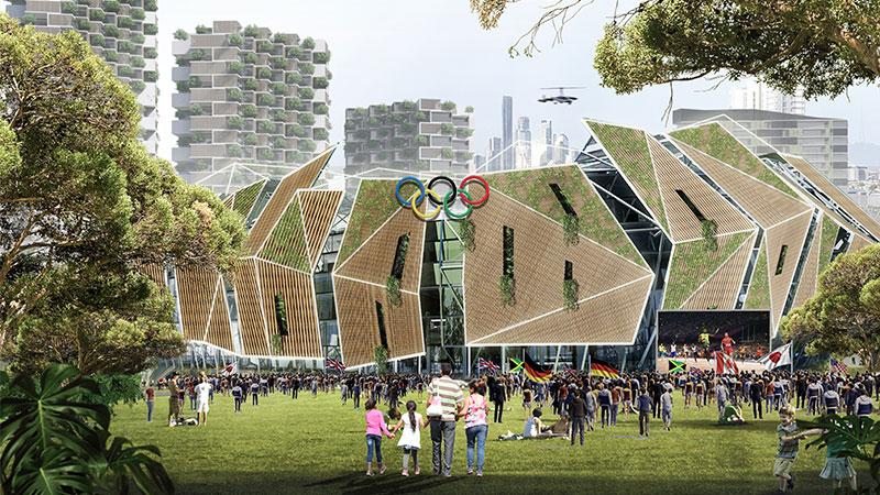 ▲ Concept Olympics precinct. Image: Urbis