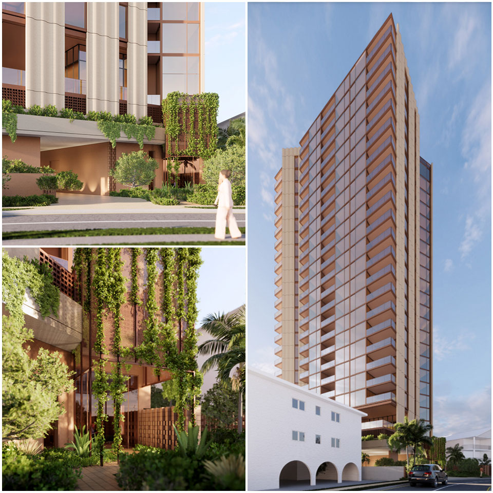 ▲ Artist impression of Yves, the developer's 26-storey tower planned for 7-9 Mermaid Avenue. Image: Rothelowman