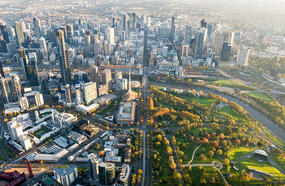 Melbourne dwelling values have fallen by 5.8 per cent for the year to November, Corelogic.