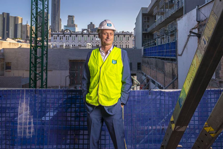 ▲ Scott Hutchinson said he fears that in 12 months time there will likely to be a lot of builders going broke.