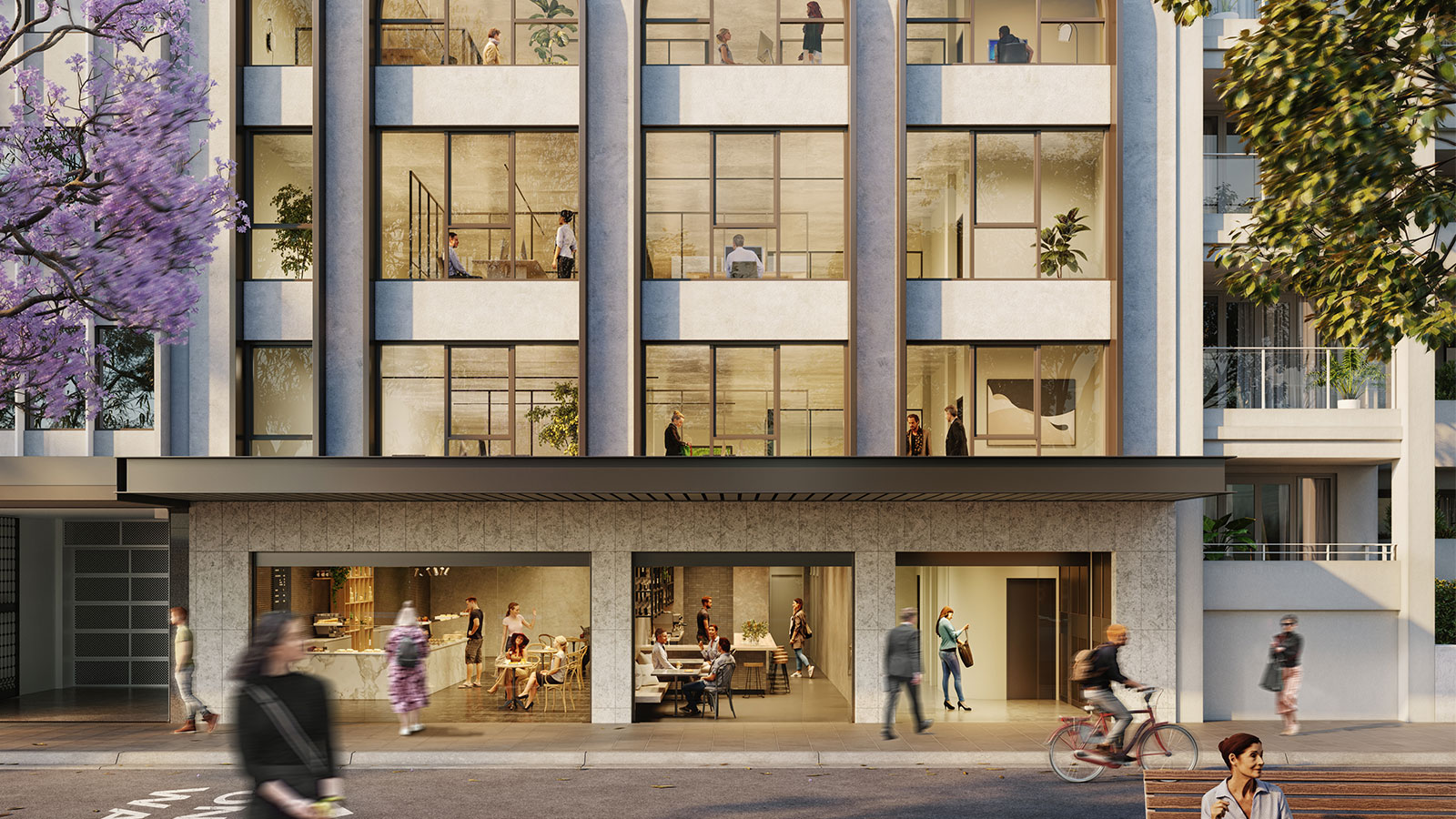 ▲ Renders of the planned upgrade by Fortis of its new site at Guilfoyle Avenue in Double Bay.