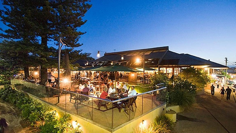 ▲ The hotel in Byron Bay.