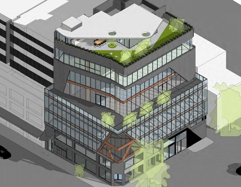 ▲ Swan Street currently contains a mixture of mid-century two story shops and more contemporary designs. Image: Katz Architecture