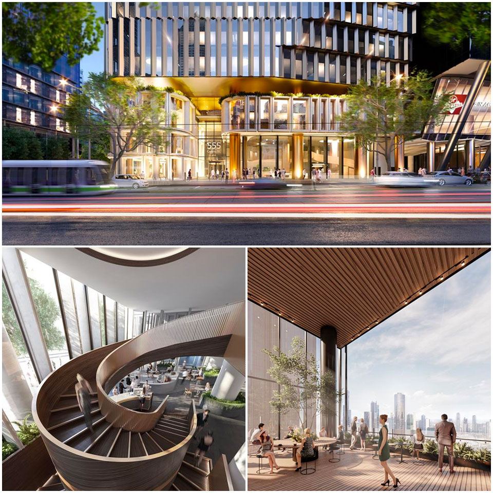 ▲ Health and wellbeing are priorities in new workplaces such as Charter Hall's 555 Collins Street, Melbourne