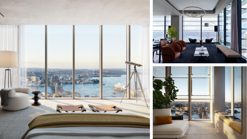 ▲ Luxury apartments have been unveiled at Residences Two as part of the $4bn One Sydney Harbour at Barangaroo. Images: Lendlease