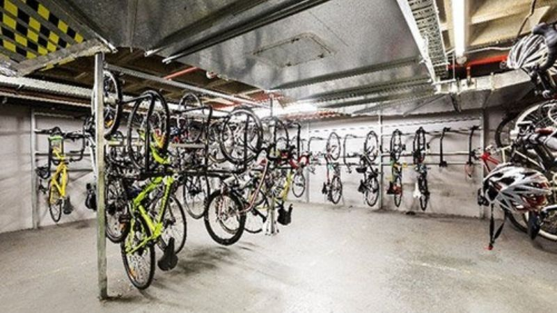 ▲ Bicycle parking at 500 Collins Street, Melbourne.