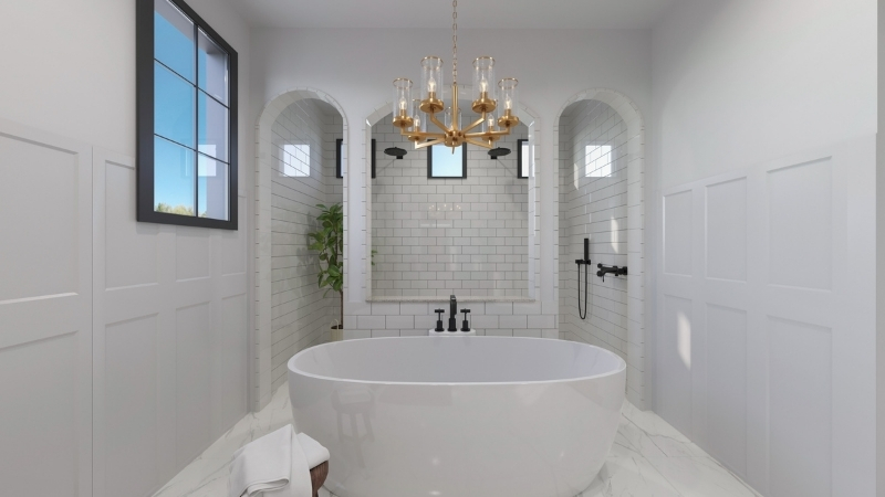 ▲ Bathroom renders can display the luxurious design of your yet-to-be-built property.