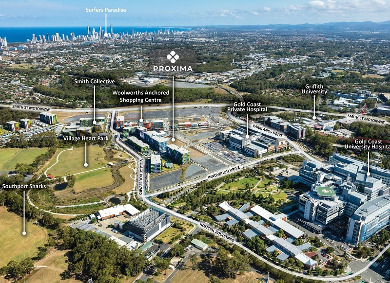 Blocks of land in the former Gold Coast 2018 Commonwealth Games Athlete Village.