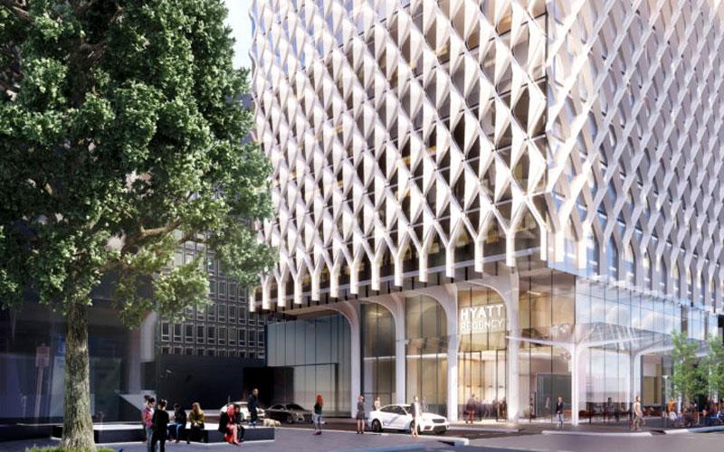 Hyatt Regency Pirie St development project Adelaide