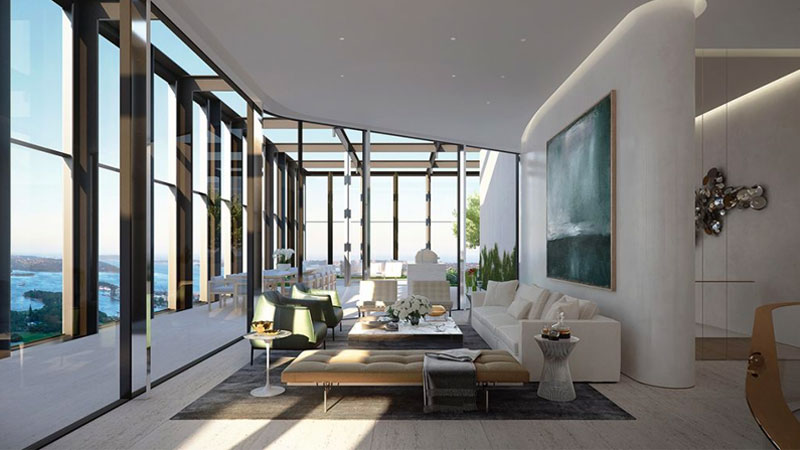 ▲ The $35 million penthouse will crown the top of Greenland Centre Sydney. Image: David Selden Design