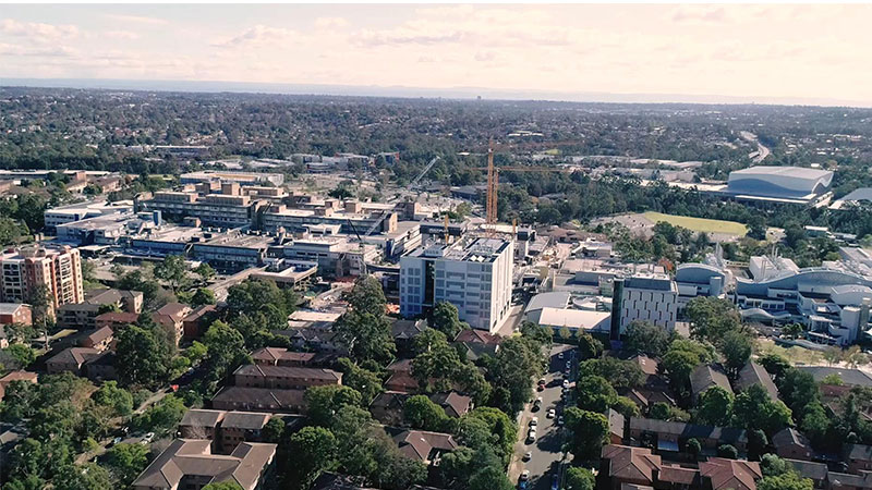 ▲ The university subdivided the Westmead site and sold some of the land with a requirement that the buyer include low-cost student accommodation on the site.