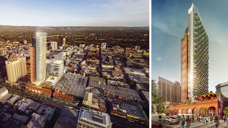 ▲ Redevelopment plans include an 'A' grade office tower, a 249 room hotel, and up to 210 residential apartments.