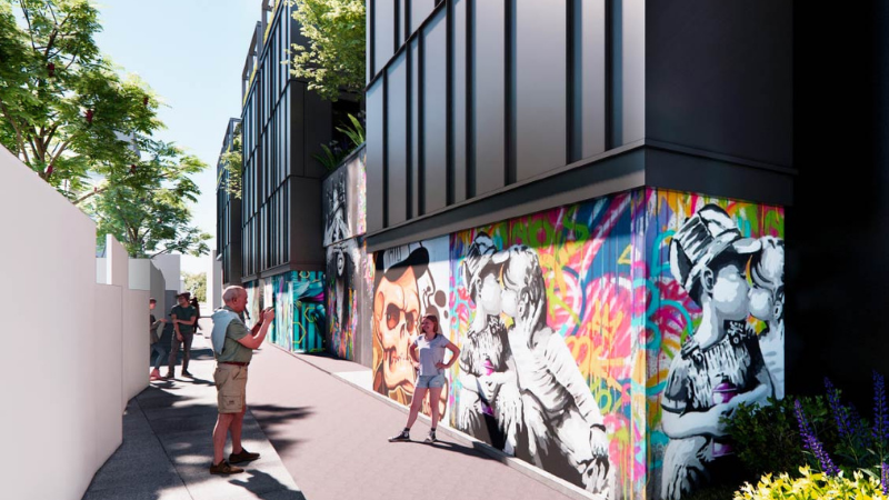 ▲ The proposed eight-storey Holiday Inn is aimed at celebrating the eclectic culture and transformation of Richmond. Image: Pelligra Group