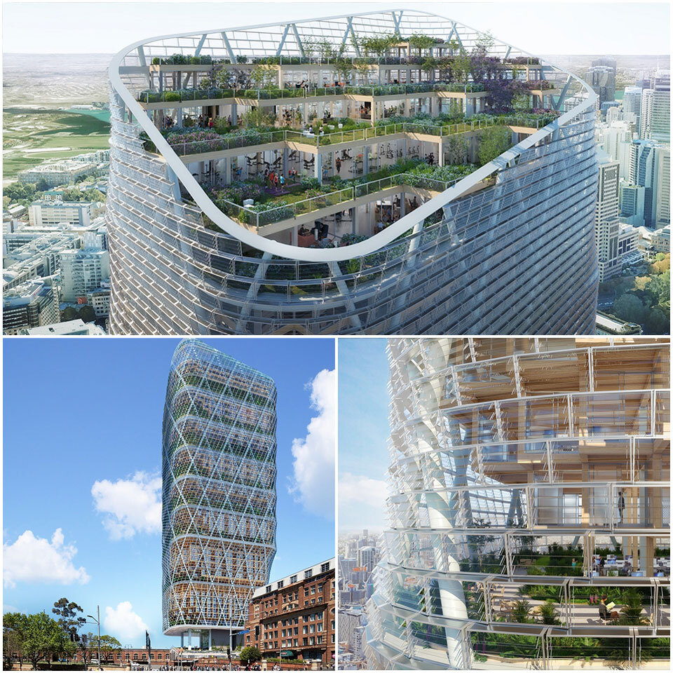 ▲ First look: Atlassian's 40-storey building features a glass and steel exoskeleton built next to Sydney's central station.
