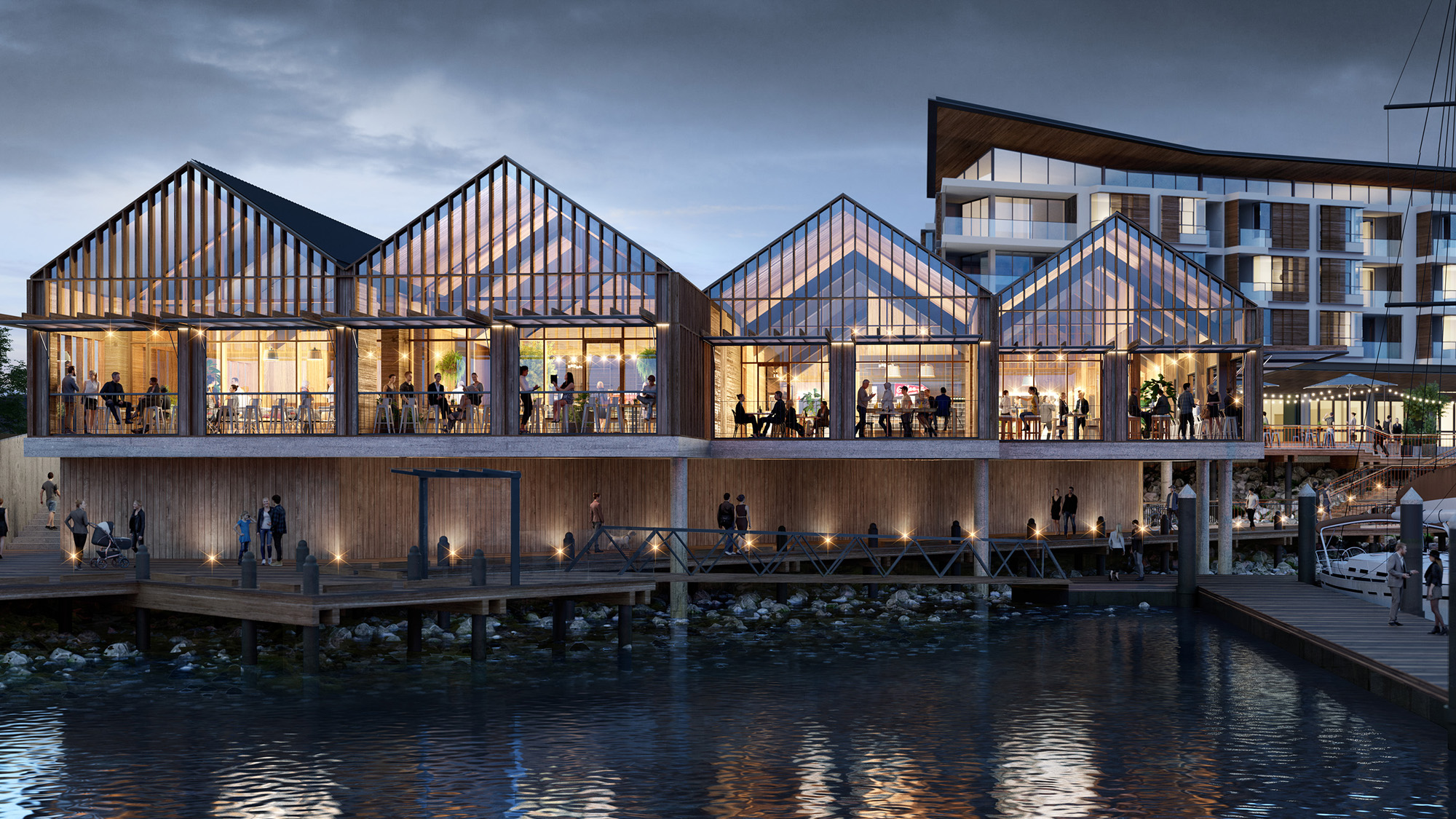 Once complete The Waterfront, will boast a world class marina and vibrant town centre which will become a lively social hub for both residents and the wider region.