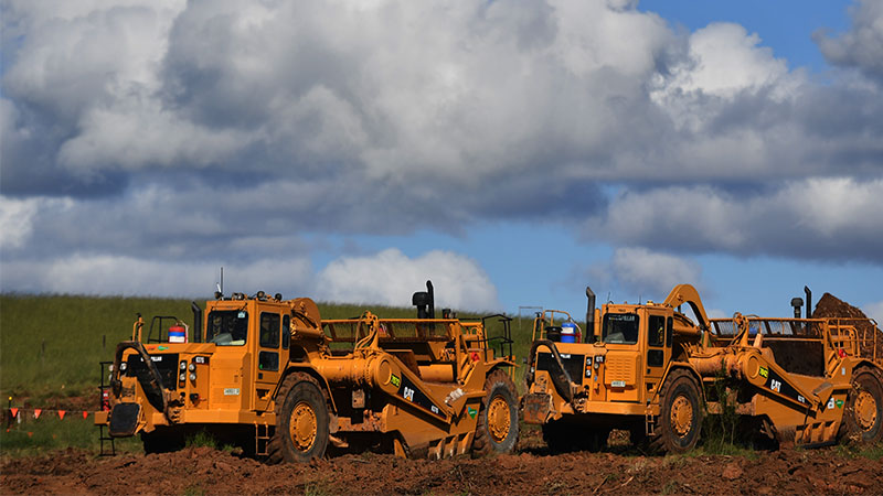 More than 200 pieces of earthmoving machinery will be mobilised on the new Western Sydney International site.