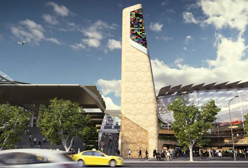The proposed station at Southern Cross as part of the Melbourne Airport rail link.