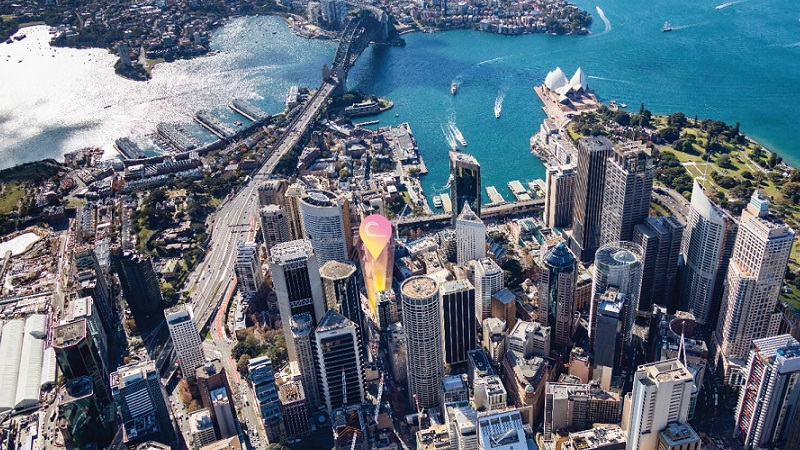 Construction is about to start on the Poly Centre office tower located near Sydney Harbour Bridge