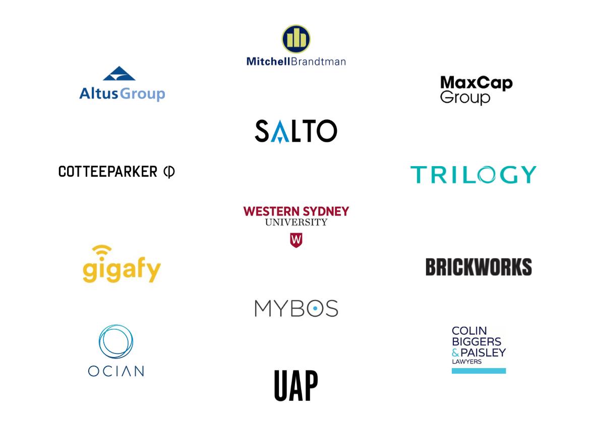 The Urban Developer Awards Sponsors