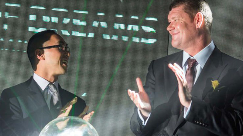 ▲Lawrence Ho and James Packer