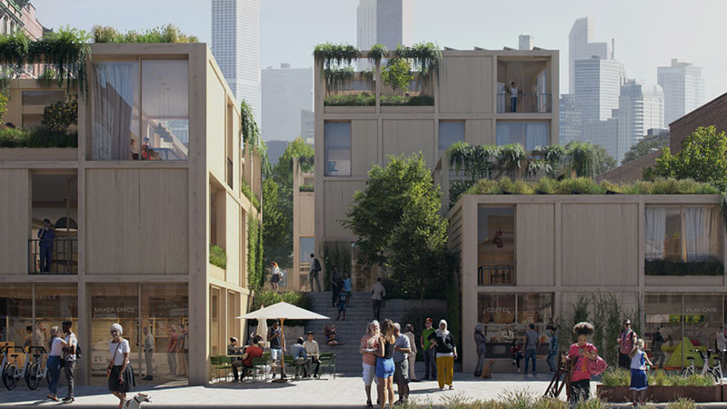 SPACE10, IKEA's global research and design lab, and EFFEKT architects have presented 'the urban village project'.