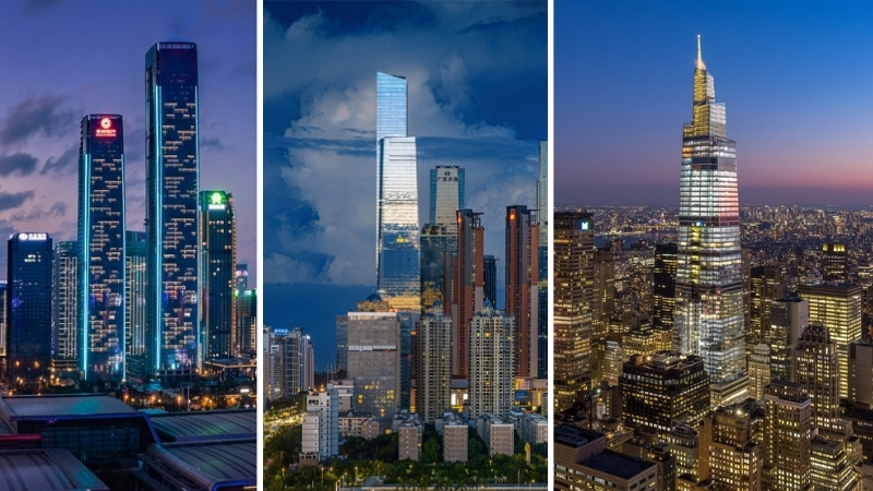 The Guiyang International Financial Center T1 and Nanning China Resources Tower both in China as well as the One Vanderbilt in the United States.