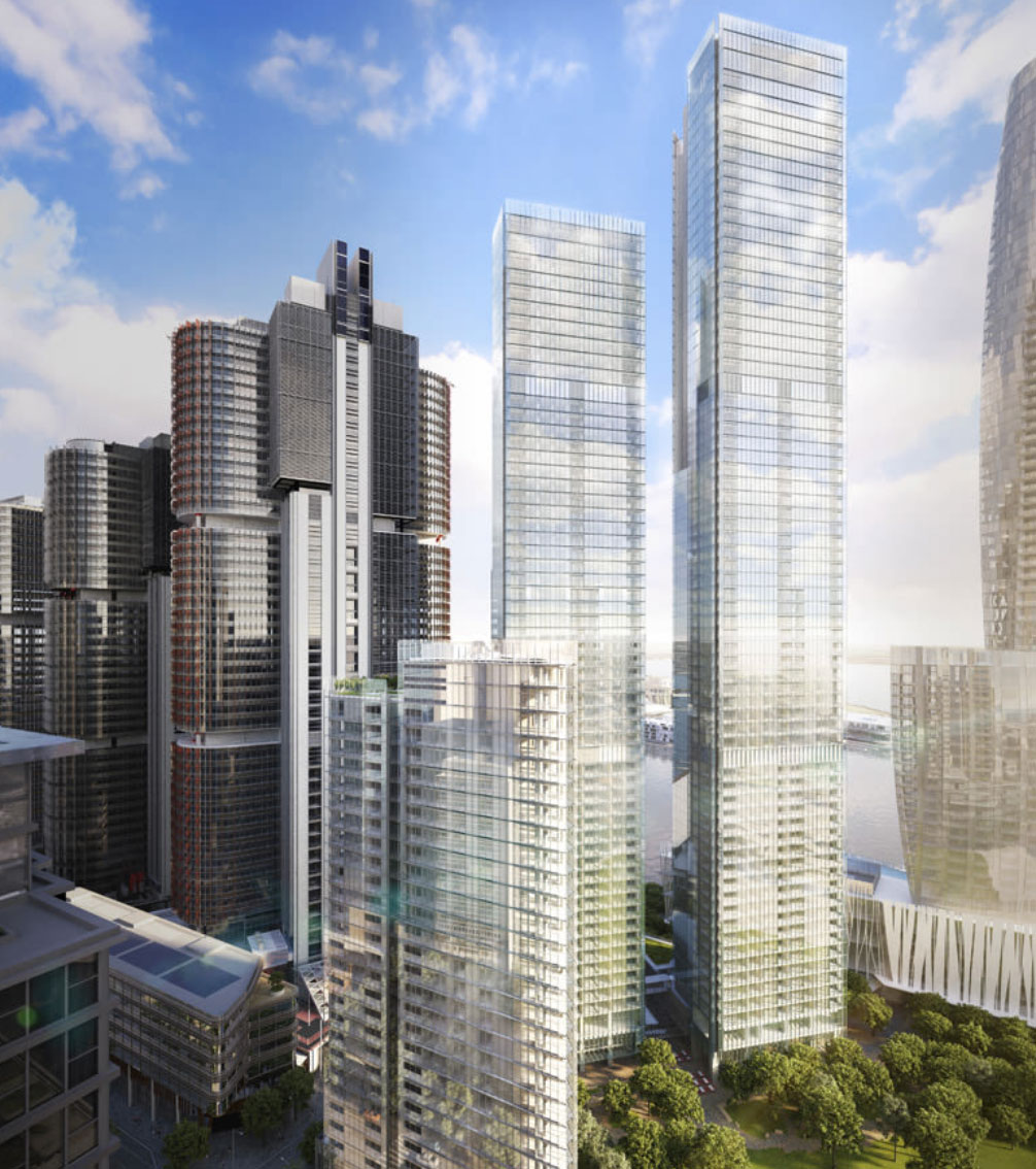 ▲The three towers, designed by Pritzker Prize winner Renzo Piano's firm, will bring 824 apartments to market. Image: Renzo Piano Building Workshop.