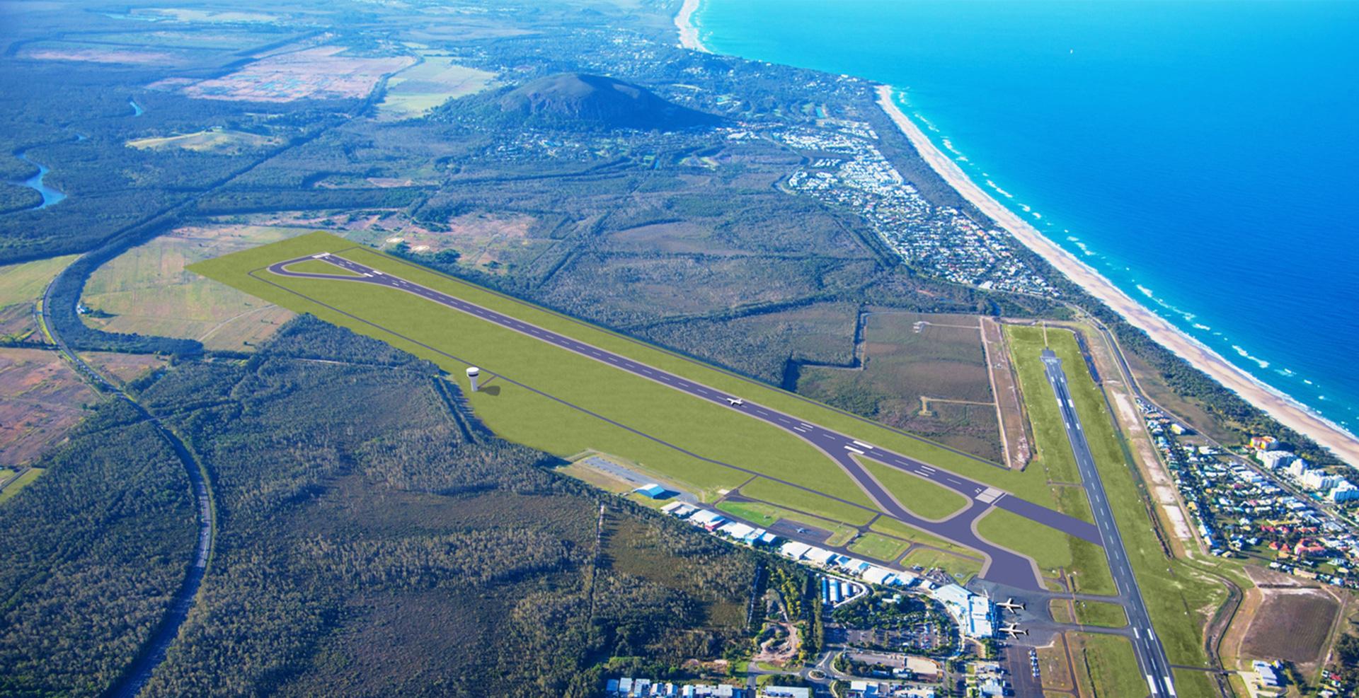 Sunshine Coast Airport runway